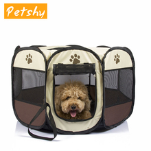 Petshy Portable Foldable Pet tent House Dog Cat Puppy Outdoor Home Waterproof Breathable Octagonal Tent Playpen Kennel Cage