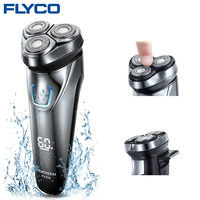Flyco FS339 Electric Shaver For Men Electric Razor Barbeador IPX7 Waterproof 1 Hour Rechargeable Washable Rotary