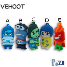 Pop Design Cartoon Inside Out USB Flash Drive 64GB Pen Drive 32gb Pendrive 8gb Flash Card Memory Stick Drives Inside Out VEHOOT