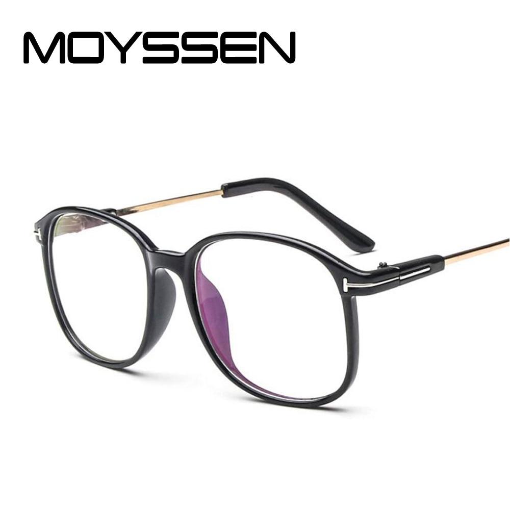 f014bc4dc8d2 MOYSSEN Fashion Men s Vintage Transparent Frame Eyeglasses Women Decorative  Nerd Oversized Large Myopia Glasses Frame Eyewear-in Eyewear Frames from  Apparel ...