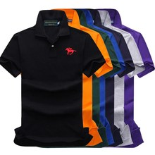 Cotton Men Polo Shirt Embroidered Multi Color Embroidery Contrast Fashion big polo  886
