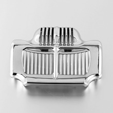 Chrome Black Oil Cooler Cover Fit For Harley Touring Road King Electra Street Glide Trike 11-16