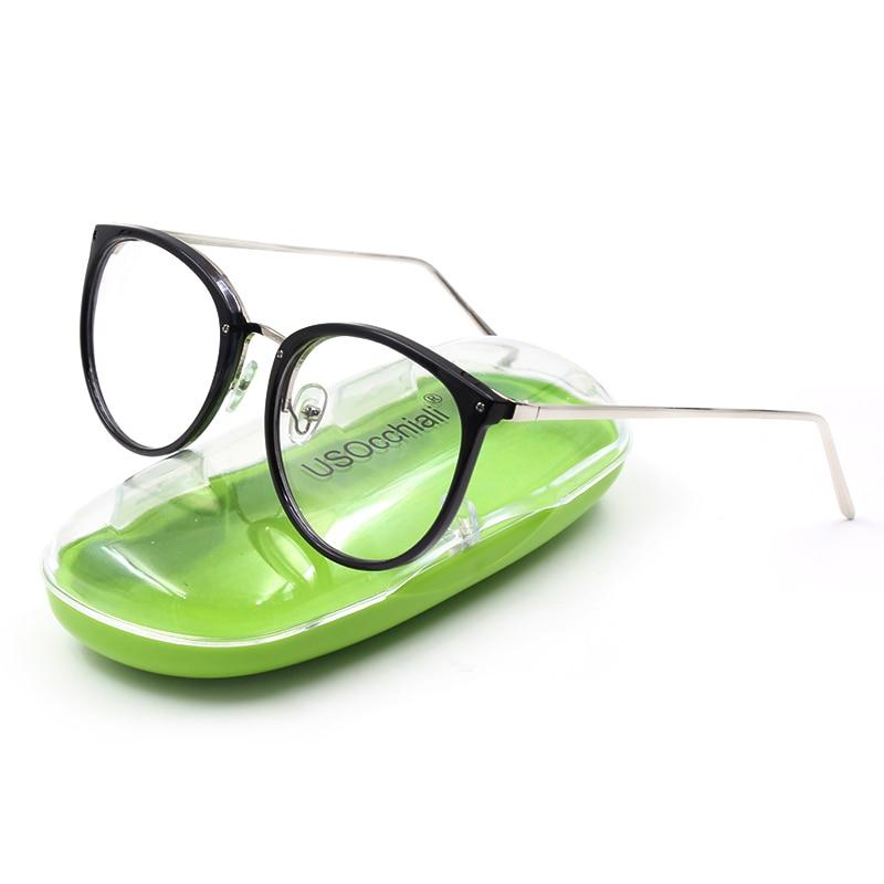 Mode Optische Brillen Rahmen myopie Vollrand Metall Frauen Brille ...