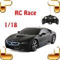 Nueva Llegada Regalo Idea 8 1/18 RC Racing Coche Eléctrico de Juguete Modelo de Control remoto de Vehículos Niños Del Favor de la Diversión Juego de la Carrera Deportiva Actual
