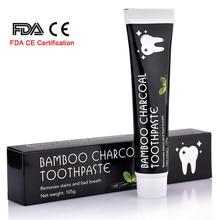 Уход за зубами бамбук натуральный активированный уголь Отбеливание зубов Гигиена полости рта зубной пасты стоматологический FDA CE сертификация дропшиппинг