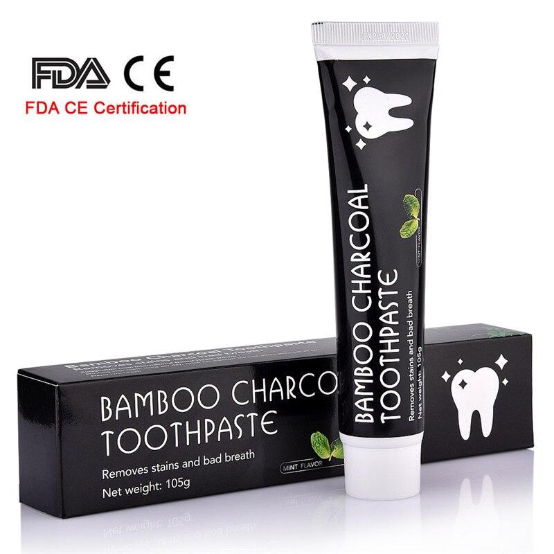 Cuidado de bambú de carbón activado blanqueamiento de dientes pasta de dientes higiene Oral Dental de la FDA certificación CE Dropshipping. exclusivo.