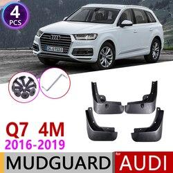 4 sztuk dla Audi Q7 4M 2016 2017 2018 2019 przedni tylny samochód błotnik błotnik osłona przeciwbłotna klapy Splash Flap błotniki akcesoria w Naklejki samochodowe od Samochody i motocykle na