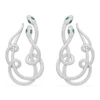 GODKI Luxury Snake Curl Full Micro Cubic Zirconia Paved Women Engagement Earrings Studs Jewelry Party Gift
