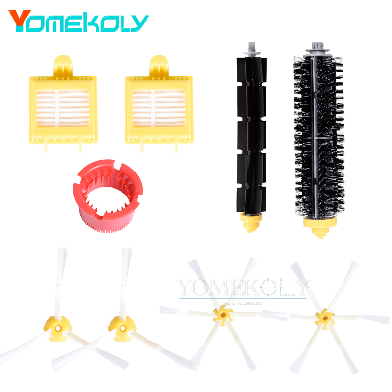 Hepa Filters Bristle Brush Flexible Beater Brush 3-Aramed & 6-Armed Side Brushes Cleaning Tool Kits for iRobot Roomba 700 Series bristle brush flexible beater brush fit for irobot roomba 500 600 700 series 550 650 660 760 770 780 790 vacuum cleaner parts