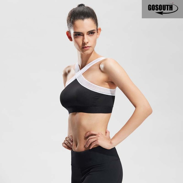 Sexy Sports Criss Cross Mesh Training Yoga Bra