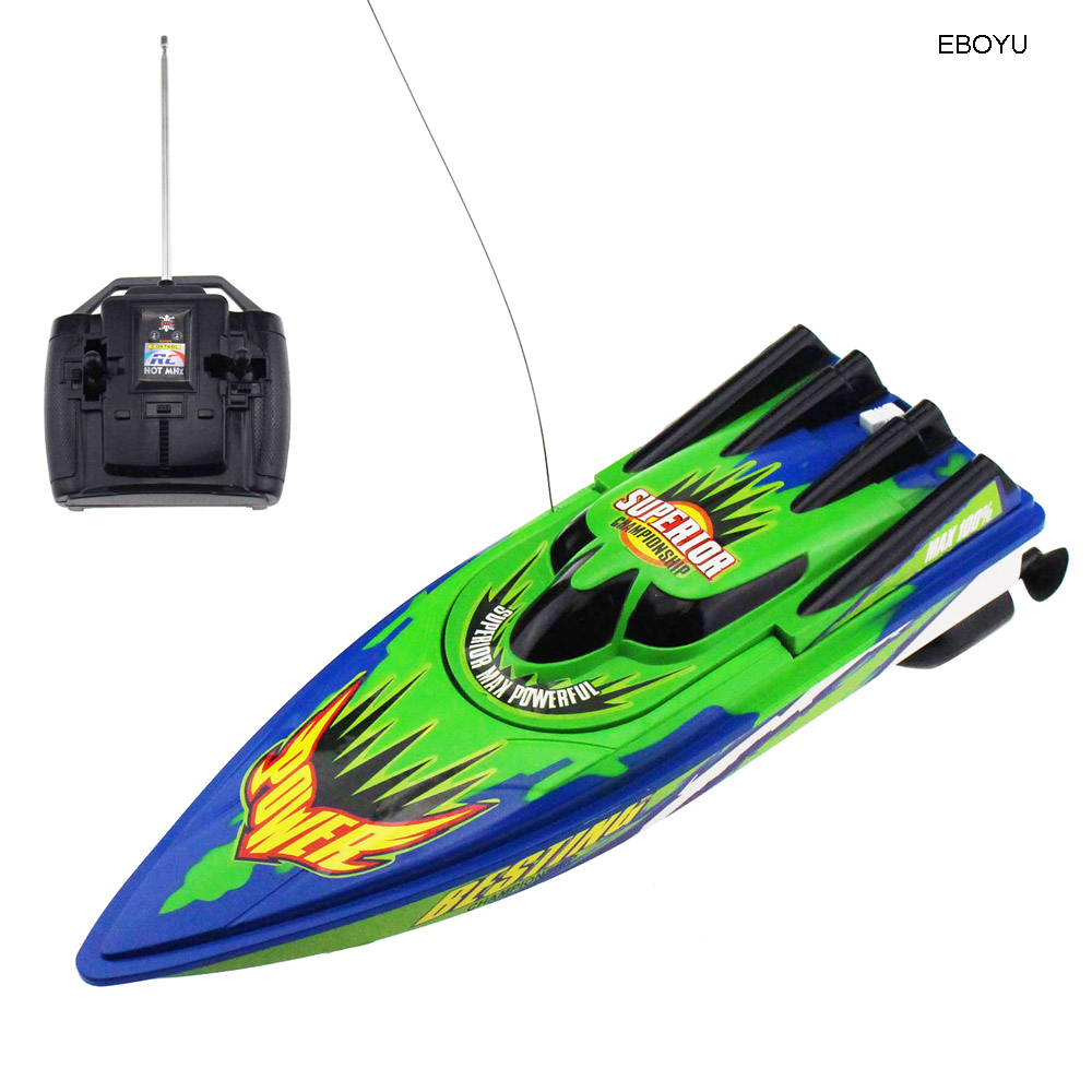 EBOYU C202 High Speed RC Boat Remote Control Race Boat 4 Channels for Pools, Lakes and Outdoor Adventure (Only Works In Water) image