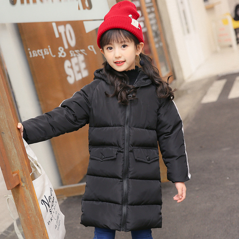 Warm Winter Kids Down cotton-padded jacket Boy and Girl Hooded Zipper Coat Children's Clothes Teen Outerwear 6-14 Years children winter coats jacket baby boys warm outerwear thickening outdoors kids snow proof coat parkas cotton padded clothes