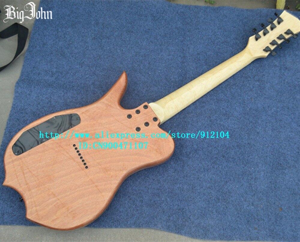 Livraison gratuite nouvelle guitare basse électrique Big John 8 cordes avec touche en palissandre fabriquée en chine F-3108