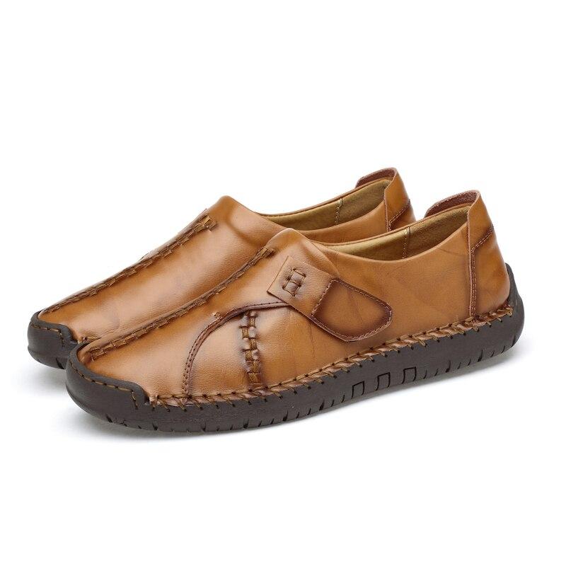 Masculinos Mocassins Brown Primavera Preto Crianças Black Deslizar Sapatos Casuais Sobre Brown Homens Zapatos 2019 Calçado Couro De yellow Misalwa Plana red Marca Dos Luxo Hombre BqawXnI