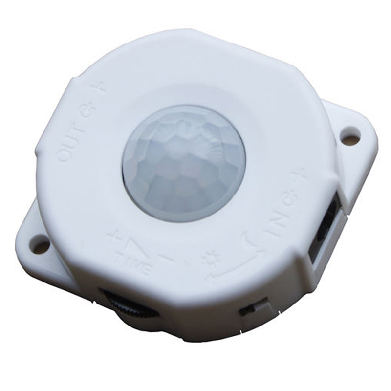 6A Automatic Infrared PIR Motion Sensor Switch For LED light Lamp DC 12V 24V Black White automatic dc 12v 24v 6a infrared pir motion sensor switch for led strip light new s08 drop ship