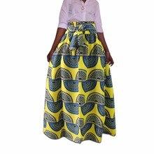 African women skirt printed design big size pleated skirt with waistbelt BM1975