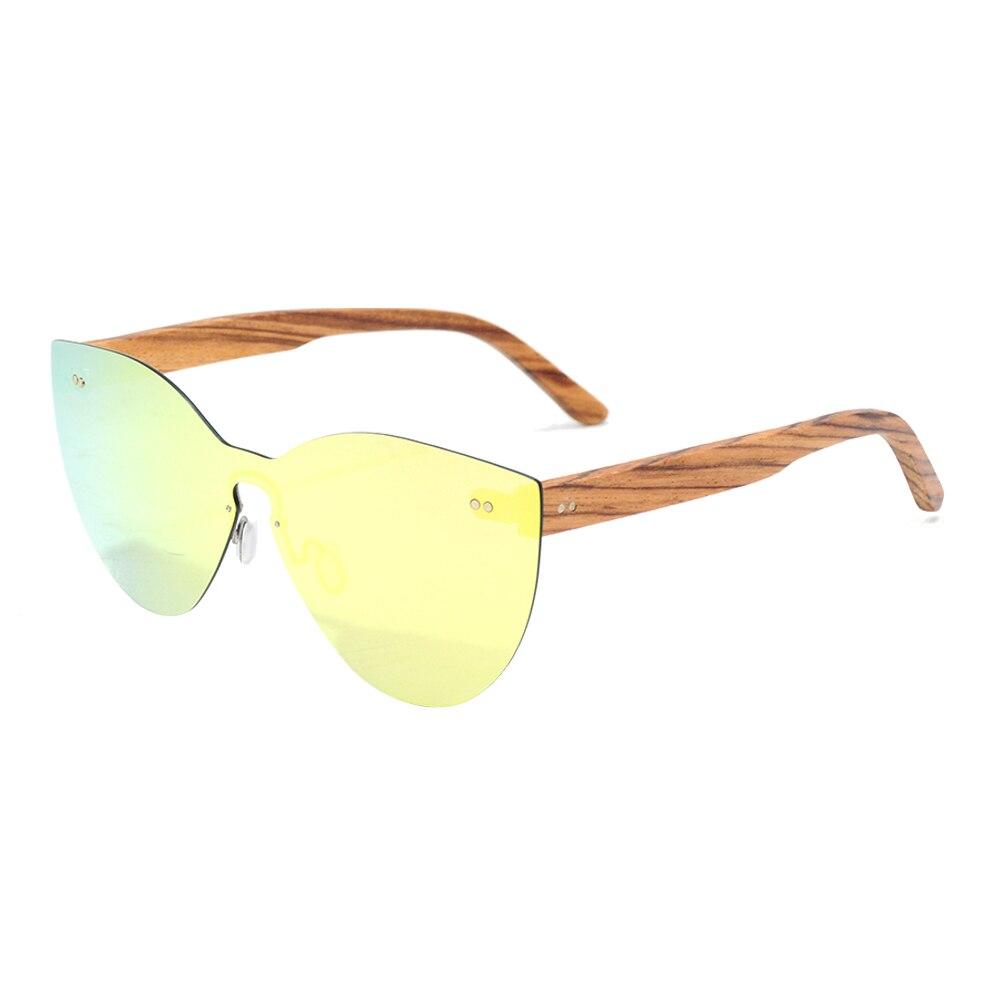 Image 2 - LONSY Fashion Sexy Cat Eye Sunglasses Women Polarized Luxury Brand Design Sun Glasses Original Wood Oculos de sol masculinoWomens Sunglasses   -