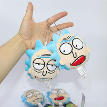 Anime High Quality 2 Styles 10 CM New Rick And Morty Stuffed Plush Keychain Toy Sanchez