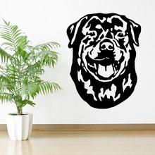 Neue Design Wandtattoos ROTTWEILER HUND Vinyl kunst aufkleber Wandaufkleber Steuern Dekor Wohnzimmer Wandbild Hund Tapete J554