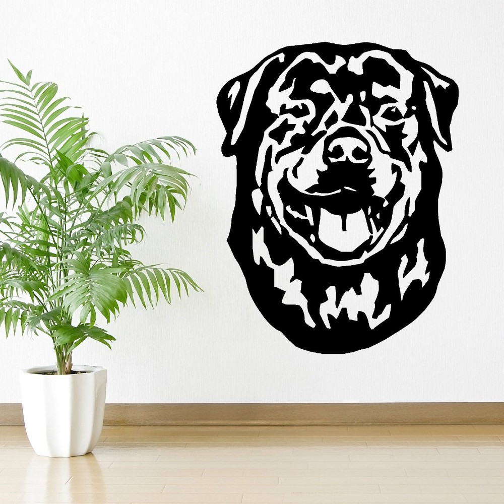 New Design Wall Decals Rottweiler Hund Vinyl Kunst Aufkleber Wall Stickers Home Decor Living Room Wall Mural Dog Wallpaper J554
