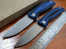 5PCS/LOT Hot sale Efeng F3 Camping Folding Knife D2 Blade G10 Handle Pocket Tactical Knife Flipper Outdoor Knives +Blue color