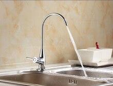 Высокое качество латунь материал нью-нет-lead медные 1/2 ' размер кухня очиститель воды кран прямая питьевой воды кран
