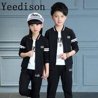 Children clothing Children's Garment Autumn 2018 Male Girl Suit Motion Student School Uniform Catamite moana mickey kids clothes