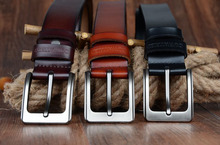 Leather Belts Strap Pin Buckle