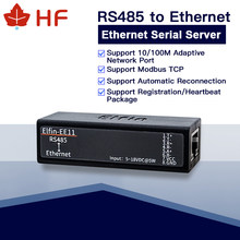 HF EE11 MINI RS485 serial server to Ethernet ModbusTCP serial to Ethernet RJ45 converter with embedded web server(China)