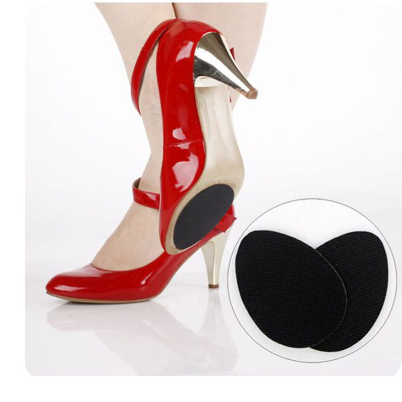 1Pair Anti-Slip Self-Adhesive Shoes Mat High Heel Sole Protector Rubber Pads Cushion Non Slip Insole Forefoot High Heels Sticker durable non slip sticker self adhesive anti slip sole shoe protector pads insoles cushion black color 0910