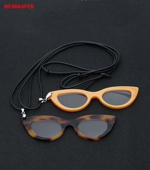 1992ffe1f5 Gafas de lectura de acetato de mujer estilo ojo de gato WEARKAPER collar de mujer  gafas de moda aumento de maquillaje Glasess 1,5-3,5