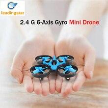 Mini H36 Drone RC Quadcopter 2.4G 6-Axis Gyro 4 Canales LED modo sin cabeza de una tecla de retorno rc helicópteros dron jjrc bolsillo drones