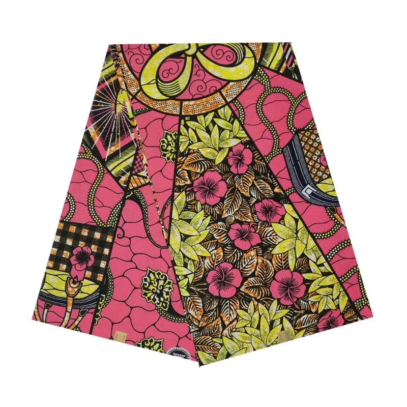Cire africaine véritable néerlandais imprimé en tissu bloc coton cire 100% coton 6 yards ankara offre spéciale pour femme africaine V-L 535