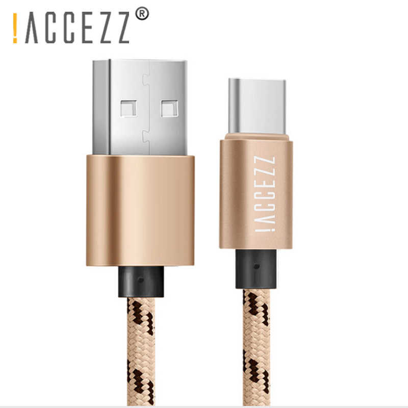 ! Accezz Kabel Data Pengisi Daya USB Tipe C untuk Xiaomi 5 6 Samsung Gaxaly S8 S9 Plus Charge Cord untuk OnePlus 6 5 5 T Cepat Charger Line