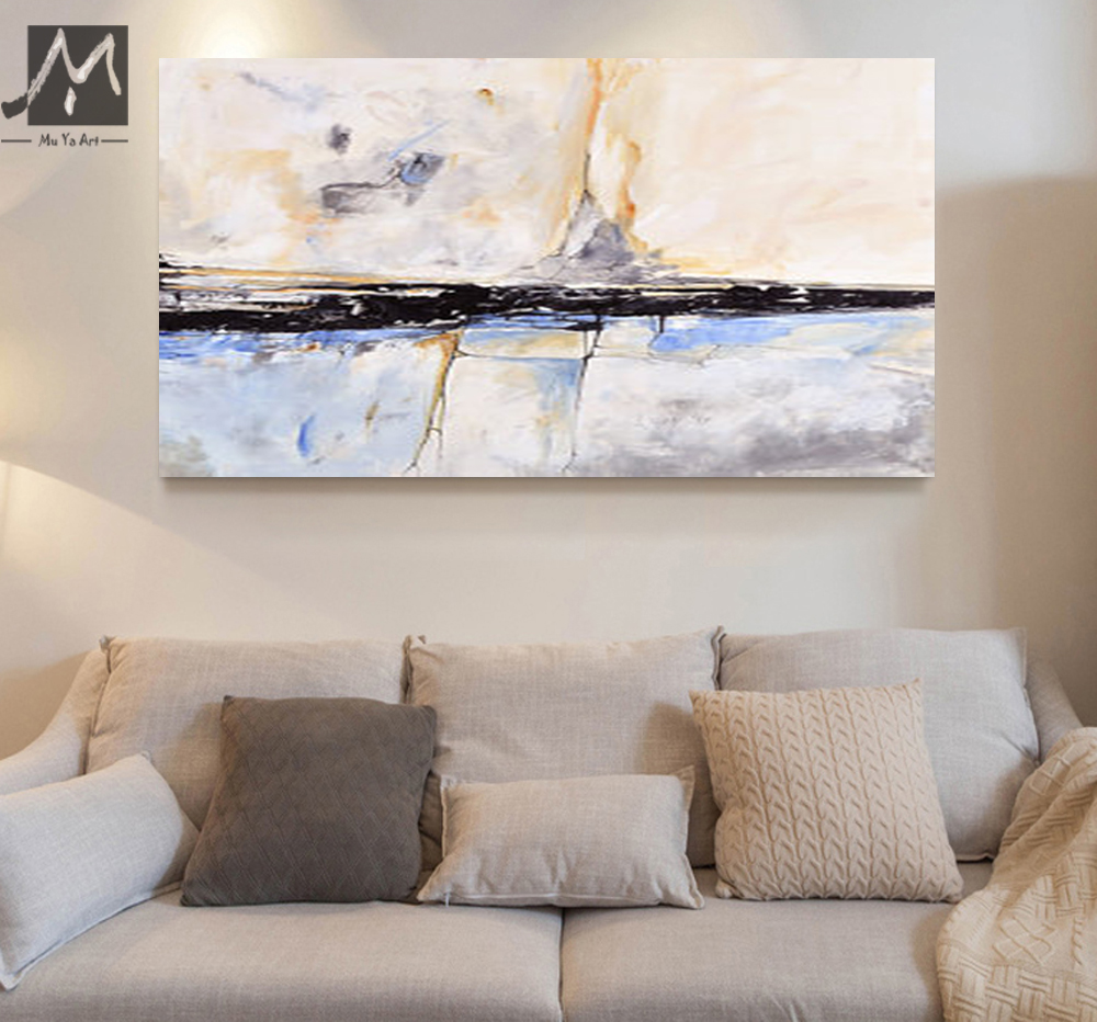 Muya abstract painting acrylic painting abstract art wall for Interior wall art
