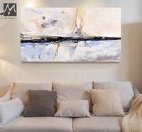 MUYA Abstrakte Malerei acryl Malerei Abstrakte Gemälde Wohnzimmer Schlafzimmer Home Interior Strand Haus Dekor Geschenk