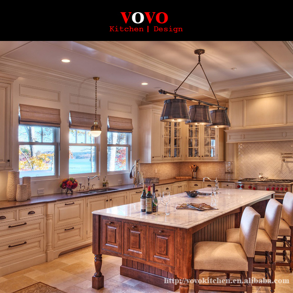 Classical Solid Wood Modular Kitchen Cabinet Design In Kitchen