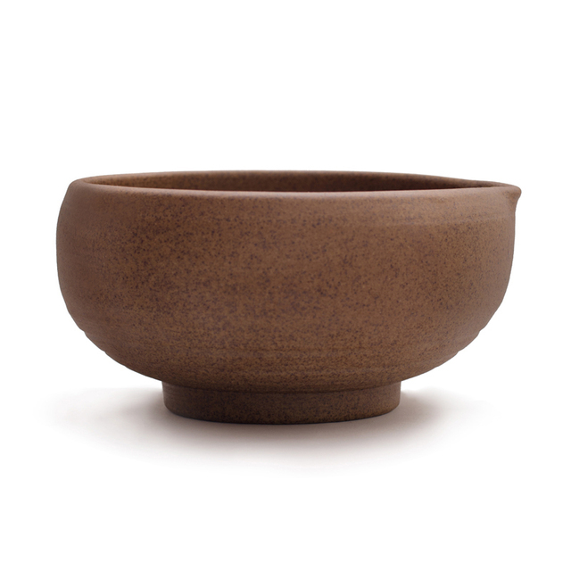 Superfine Handmade Matcha Bowl With Cute smooth mouth Crude Pottery Matcha Tea Accessories Natural Brown Japanese Matcha Teaware