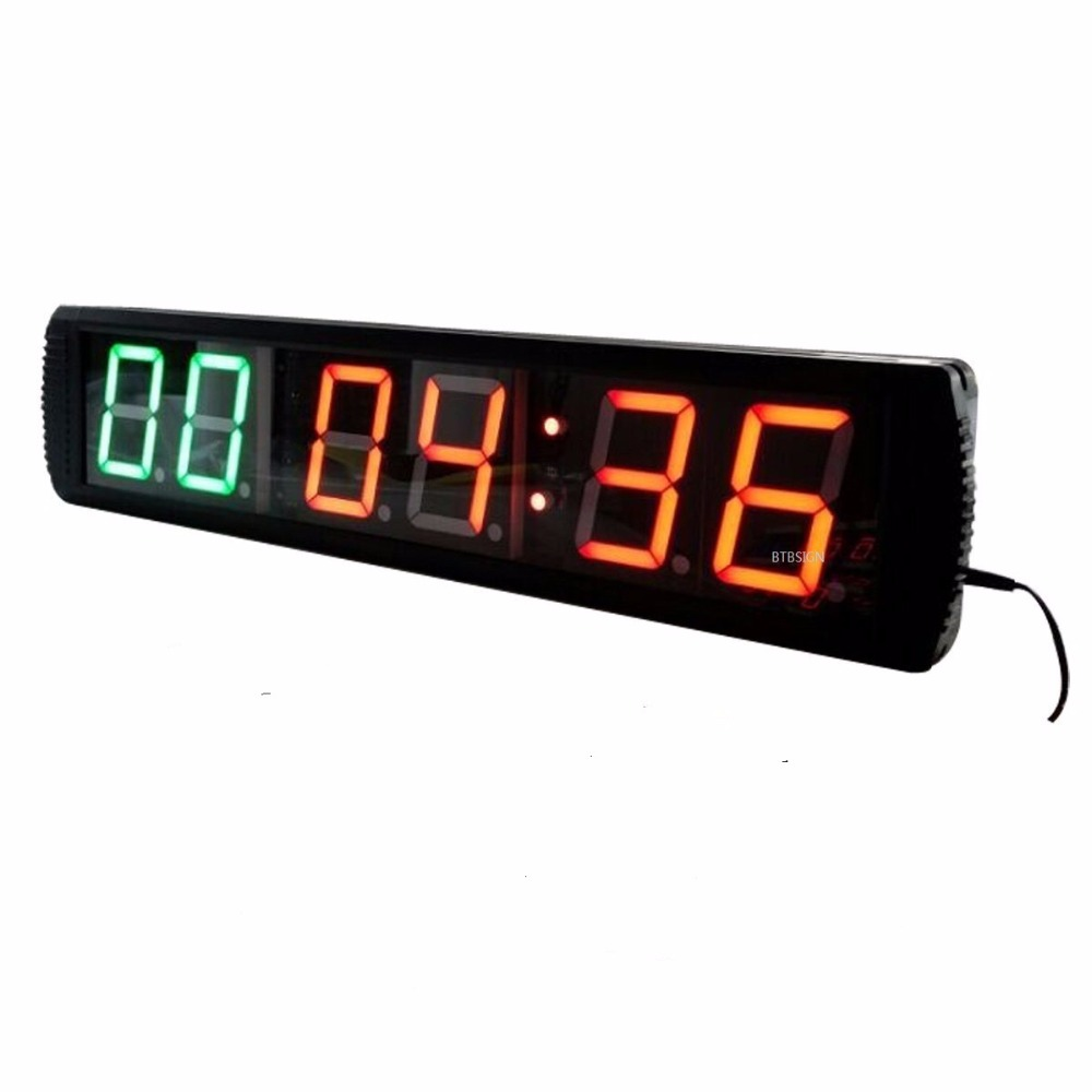 4 Character High Led Wall Clock Countdown Count Up Time For Gym Home Garage Crossfit Workout Fitness Wall Clock Led Wall Clockclock Wall Clock Aliexpress