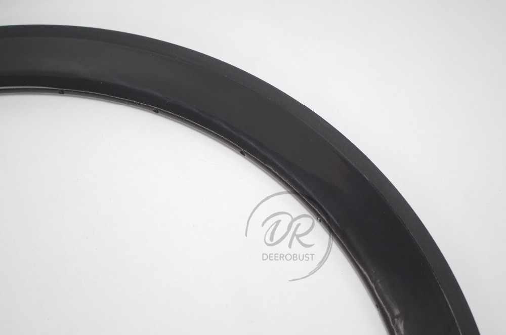 410g 700c 50mm x 23mm UD brillant carbone pneu route vélo jantes vélo roue jante basalte frein Surface 16 18 20 21 24 28 32 trous