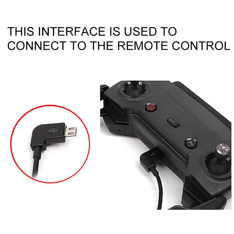 Cabo de dados para dji faísca/mavic pro/mavic 2 controle de ar micro usb para iluminação/tipo c/micro linha usb para iphone para almofada para xiaomi