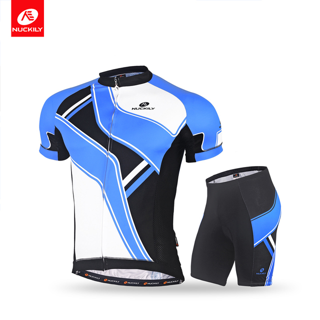 NUCKILY Men s Short Sleeve Cycling Apparel Jersey and Comfortable Padded  Short Stretchable Sportswear Bike Clothing Set 4cda03721