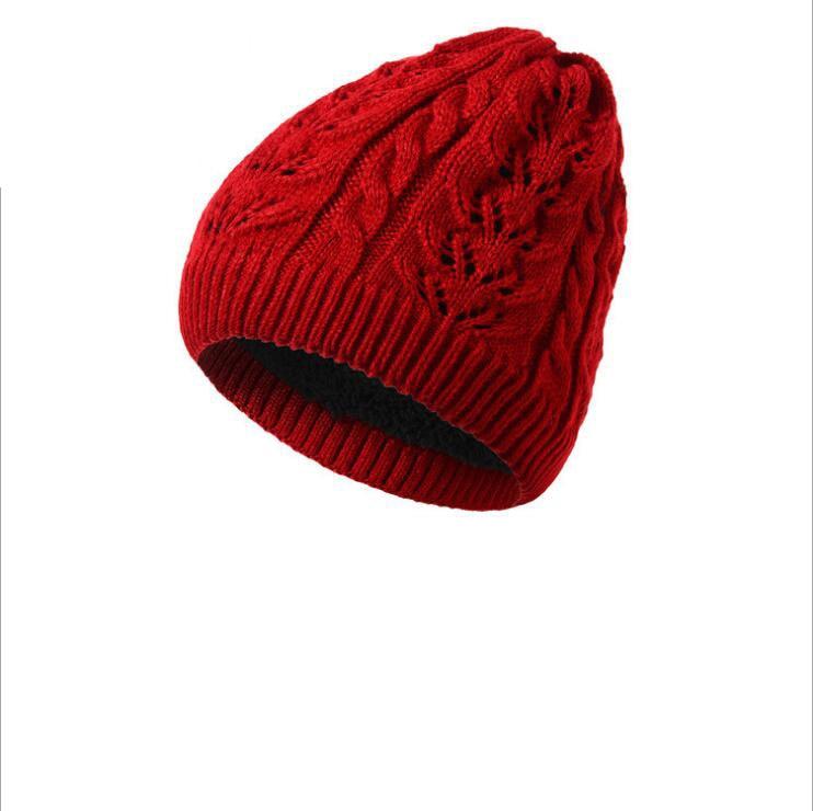 Fashion Warm Twist Winter Hat Women Knitted   Beanies   Caps Thick Warm   Skullies     Beanies   Women Thick Female Hat Wholesale