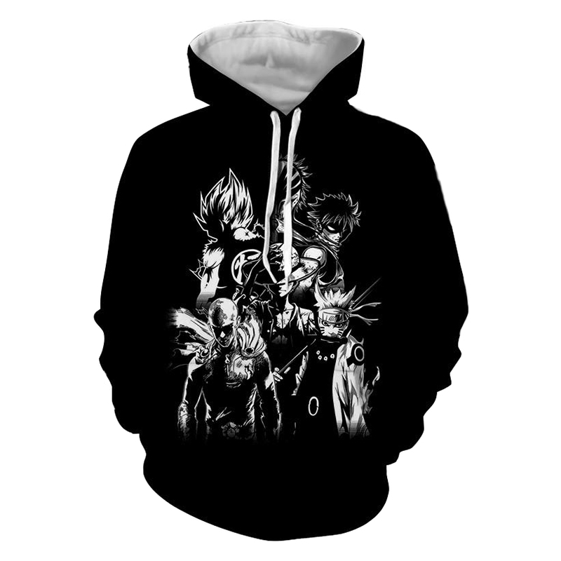 Dropshipping Anime Hoodies One Piece Dragon Ball Naruto Bleach 3d Print Hoodies Sweatshirts Jacket Winter Warm Sweats Coats