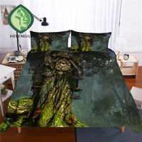 HELENGILI 3D Bedding Set Forest Dreamland Print Duvet Cover Set Bedclothes with Pillowcase Bed Set Home Textiles #MJSL 58