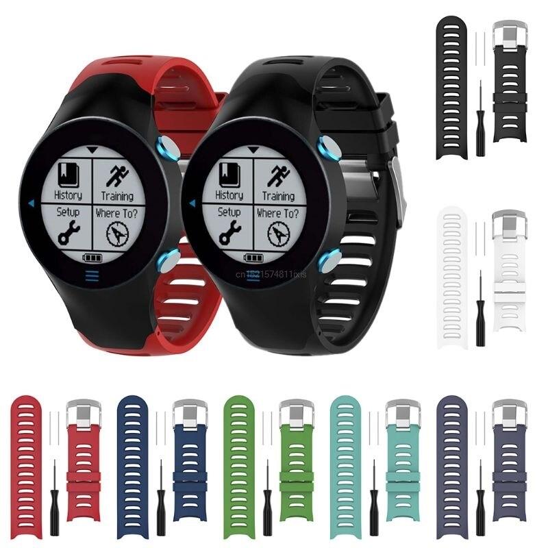 Substituição de silicone Wrist Strap Watch Band Para Garmin Forerunner 610 Relógio com Ferramentas