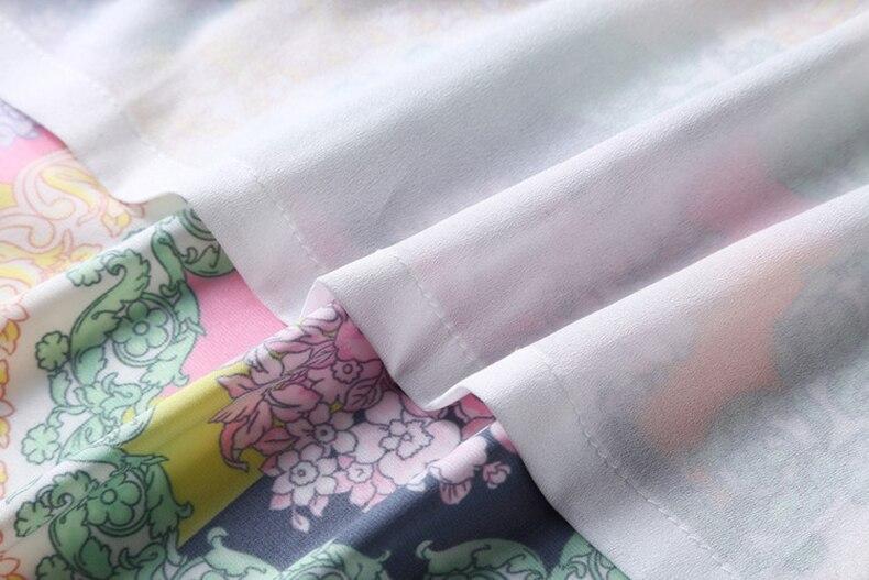 Ziwwshaoyu 5XL élégant imprimé Cardigan robe Vintage ceintures col rabattu robes droites 2019 printemps et été nouvelles femmes - 5