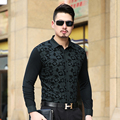 2016 ISMEN Mens Dress Shirt Long Sleeve Male Business Casual Fashion Formal Shirts Slim Masculina Camisa
