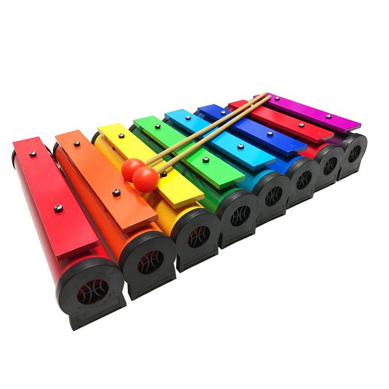 Orff percussions enfants 8 Notes maternelle bois Xylophone petite enfance sagesse Instrument de musique Orff jouets OF09