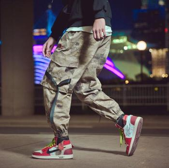 Casual personality Camouflage trousers mens pants loose harem pant mens feet trousers fashion pantalon homme street novelty